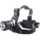 Налобный аккумуляторный фонарь фонарик Police Bailong BL-2199 T6 диод, фото 3
