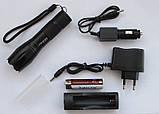 Фонарик тактический POLICE 158000W BL-1831-T6, ручной фонарь аккумуляторный, фото 2