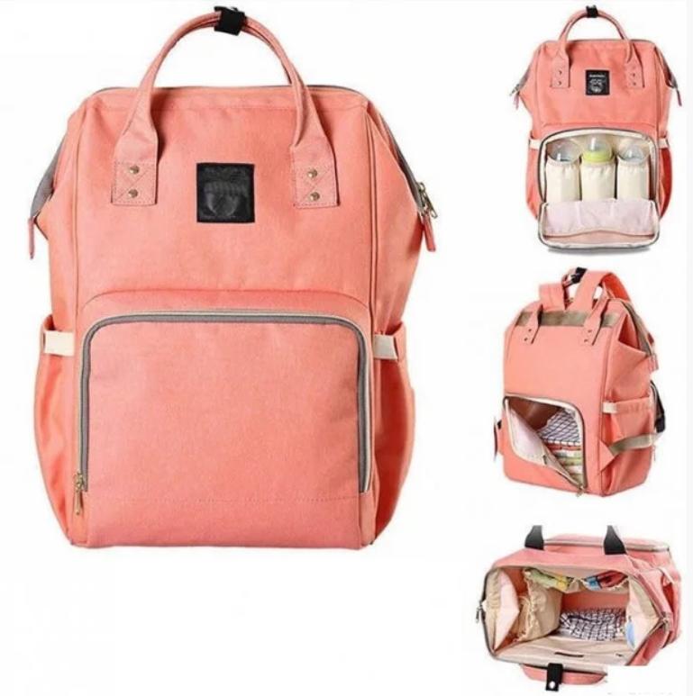 Сумка-рюкзак для мам lequeen Mom Bag вмещающий 25 предметов для ребёнка NO1030 ПУДРА