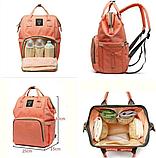 Сумка-рюкзак для мам lequeen Mom Bag вмещающий 25 предметов для ребёнка NO1030 ПУДРА, фото 2