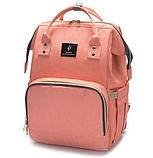 Сумка-рюкзак для мам lequeen Mom Bag вмещающий 25 предметов для ребёнка NO1030 ПУДРА, фото 4