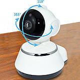 Камера видеонаблюдения WIFI Smart NET camera Q6, веб вай фай, Web камера онлайн wi-fi, с записью, фото 2