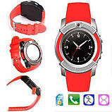 Сенсорные Smart Watch V8 смарт часы умные часы КРАСНЫЕ, фото 3