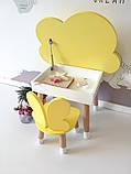 Стіл полуоблако з пеналом і 1 стілець метелик, фото 3