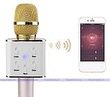 Bluetooth микрофон для караоке Q7 Блютуз микро + ЧЕХОЛ Черный, фото 9