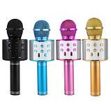 Bluetooth микрофон для караоке с изменением голоса WSTER WS-858, фото 2