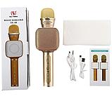 Беспроводной портативный Bluetooth микрофон для караоке Magic Karaoke YS-68 + колонка 2 в 1 с мембраной низких, фото 3