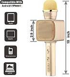 Беспроводной портативный Bluetooth микрофон для караоке Magic Karaoke YS-68 + колонка 2 в 1 с мембраной низких, фото 8
