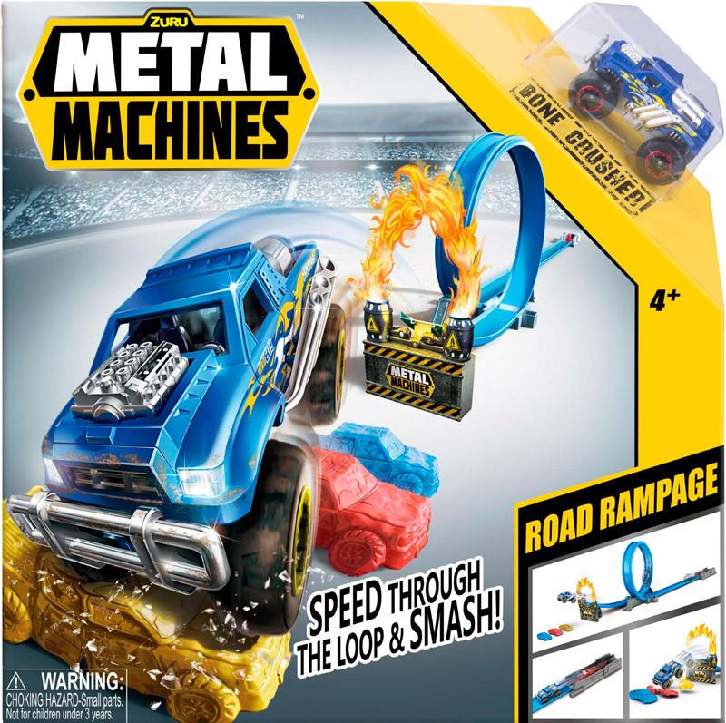 Игровой набор автотрек Metal Machines Road Rampage (6718)