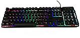 Профессиональная игровая клавиатура с подсветкой клавиш LANDSLIDES KR-6300, фото 8