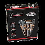 Мужской триммер бритва аккумуляторная для стрижки волос и бороды ProGemei Gold GM-595, фото 4
