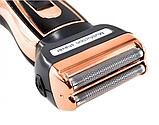 Мужской триммер бритва аккумуляторная для стрижки волос и бороды ProGemei Gold GM-595, фото 7