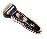 Мужской триммер бритва аккумуляторная для стрижки волос и бороды ProGemei Gold GM-595, фото 8