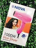 Фен для волос дорожный Nova 1000W со складной ручкой, фото 9