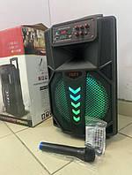 Портативная аккумуляторная Bluetooth колонка LT - 1205 в виде чемодана с колесиками и ручкой, пульт, микрофон