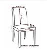 Велюровый чехол на стул со спинкой бежевый с коричневыми разводами, фото 6