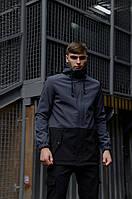 """Куртка мужская серая черная Softshell демисезонная """"Citizen"""" Intruder осенняя весенняя на флисе+Ключница, фото 1"""