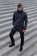 Костюм мужской серый черный демисезонный Intruder Softshell V2.0. Куртка мужская, штаны утепленные + Ключница, фото 1