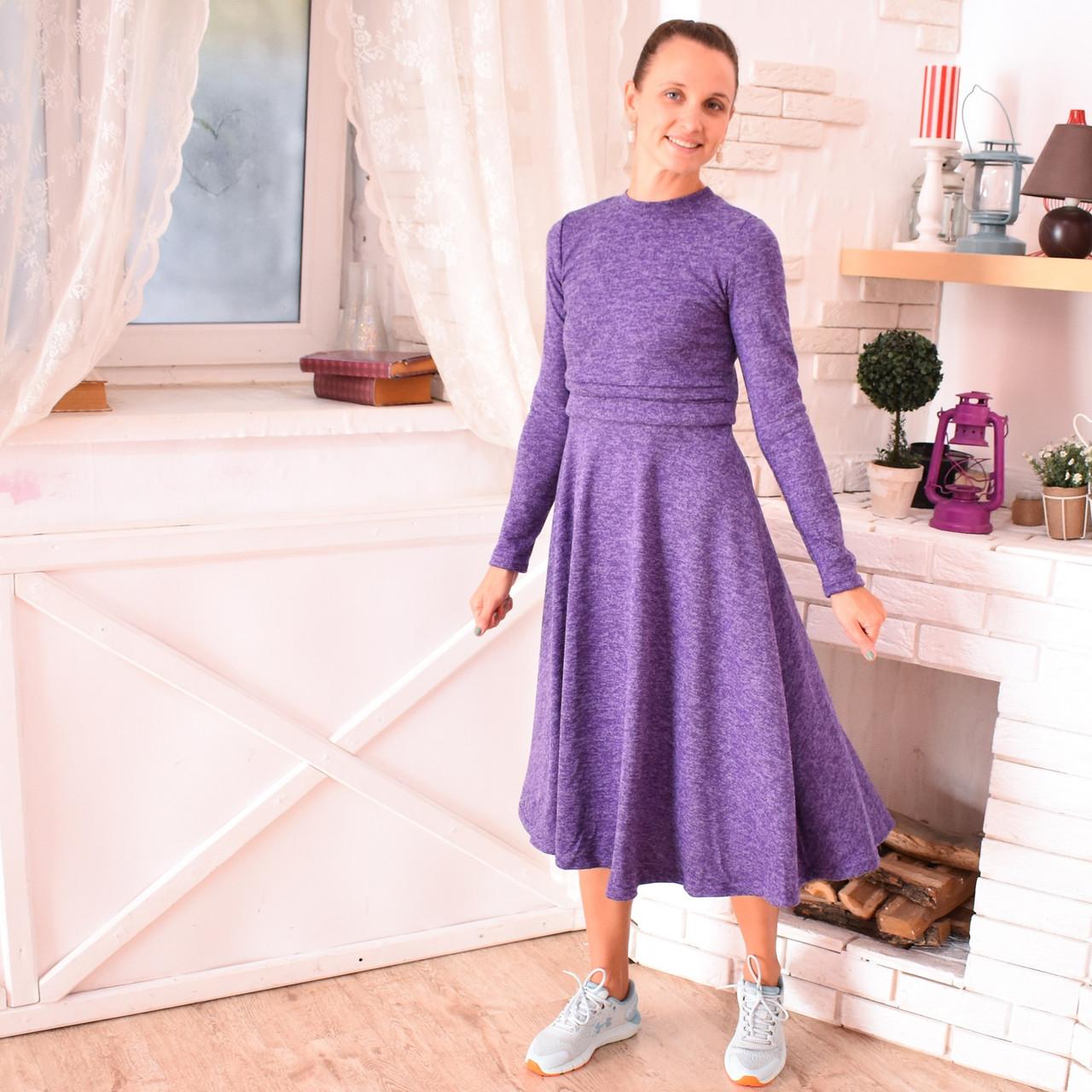 Платье с секретом для ГВ For Kids ангора софт миди Лаванда