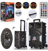 Портативная акустическая аккумуляторная Bluetooth колонка на колёсах LT - 1207 с микрофоном