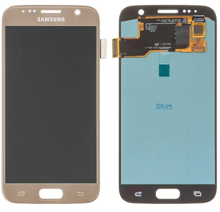 Дисплей Samsung Galaxy S7 G930 с тачскрином, (OLED), Gold