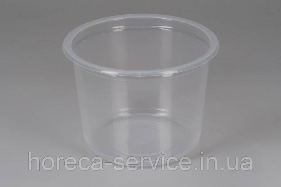 Ланч-бокс РР герметичный с крышкой для микроволновки прозрачный 500 мл.