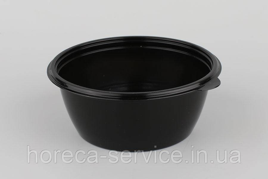 Ланч-бокс РР герметичный с крышкой для микроволновки черный 500 мл