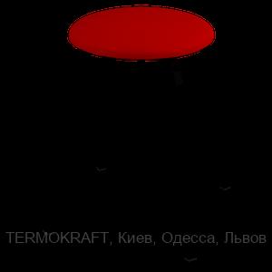 Табурет 2710  black кожзам красный