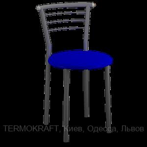 Стул  Марко alum кожзам синий для кухни, бара, летней площадки