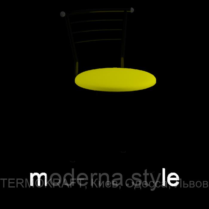 Стул  Марко black  кожзам желтый для кухни, бара, летней площадки