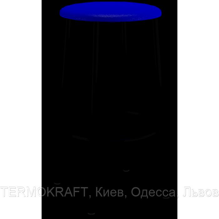 Табурет  Marco Хокер Black  кожзам синий