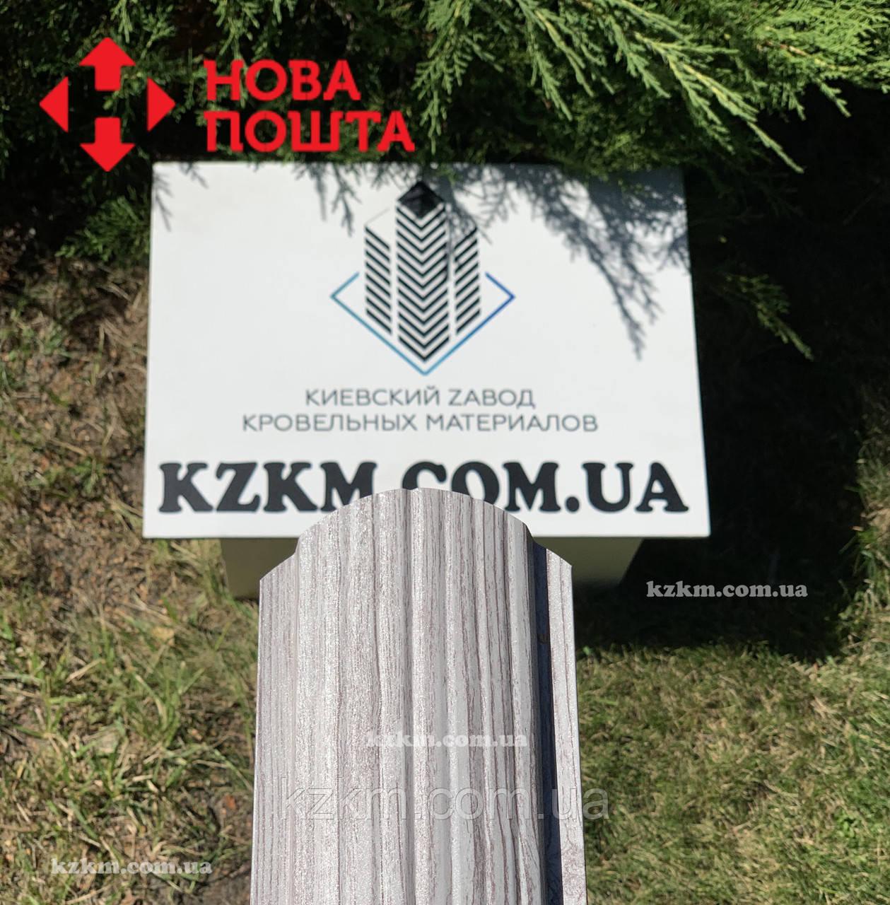 Штакетник металлический белое дерево 3Д Акация, евроштакетник, евроштахет, штакетник усиленный, забор
