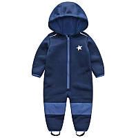 Комбинезон, Softshell, софтшелл, lupilu, грязепруф, куртка Синий со звездой74-80