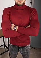 Чоловічий гольф бордовий з емблемою, фото 1
