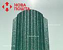 Штакетник матовый зеленый RAL 6005, штахет, евроштакет , забор из штакета, металлический зеленого цвета, фото 2