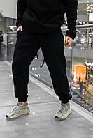 Штаны зимние мужские на флисе Intruder черные спортивные теплые мужские брюки, фото 1