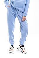 Штаны женские джогеры теплые на флисе зимние спортивные Basic Intruder голубые Oversize осенние весенние