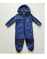 Комбинезон, Softshell, софтшелл, lupilu, грязепруф, куртка Синие звезды 74-80