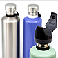 Пляшка для води Cheeki 1л з нержавіючої сталі Classic Single Wall 1 літр Lavender, металева 1000 мл, фото 6