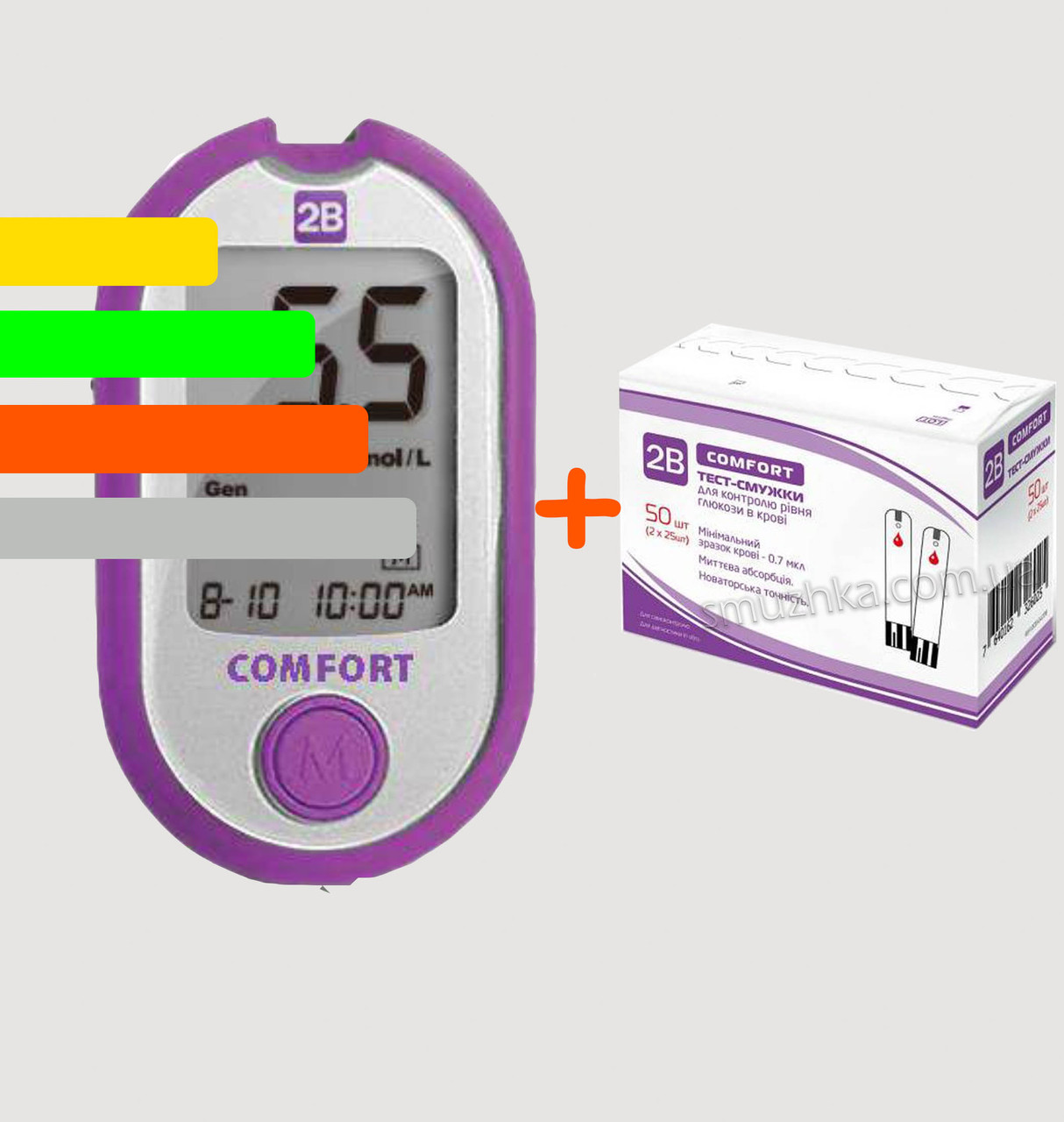 Глюкометр 2B Comfort +60 тест-полосок Туби Комфорт