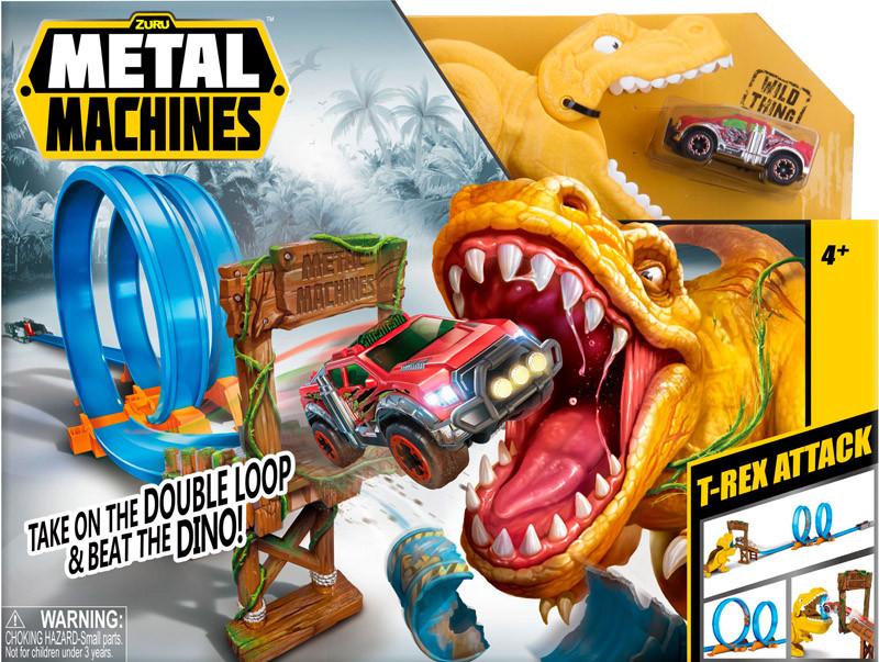 Игровой набор автотрек Metal Machines T - Rex (6702)