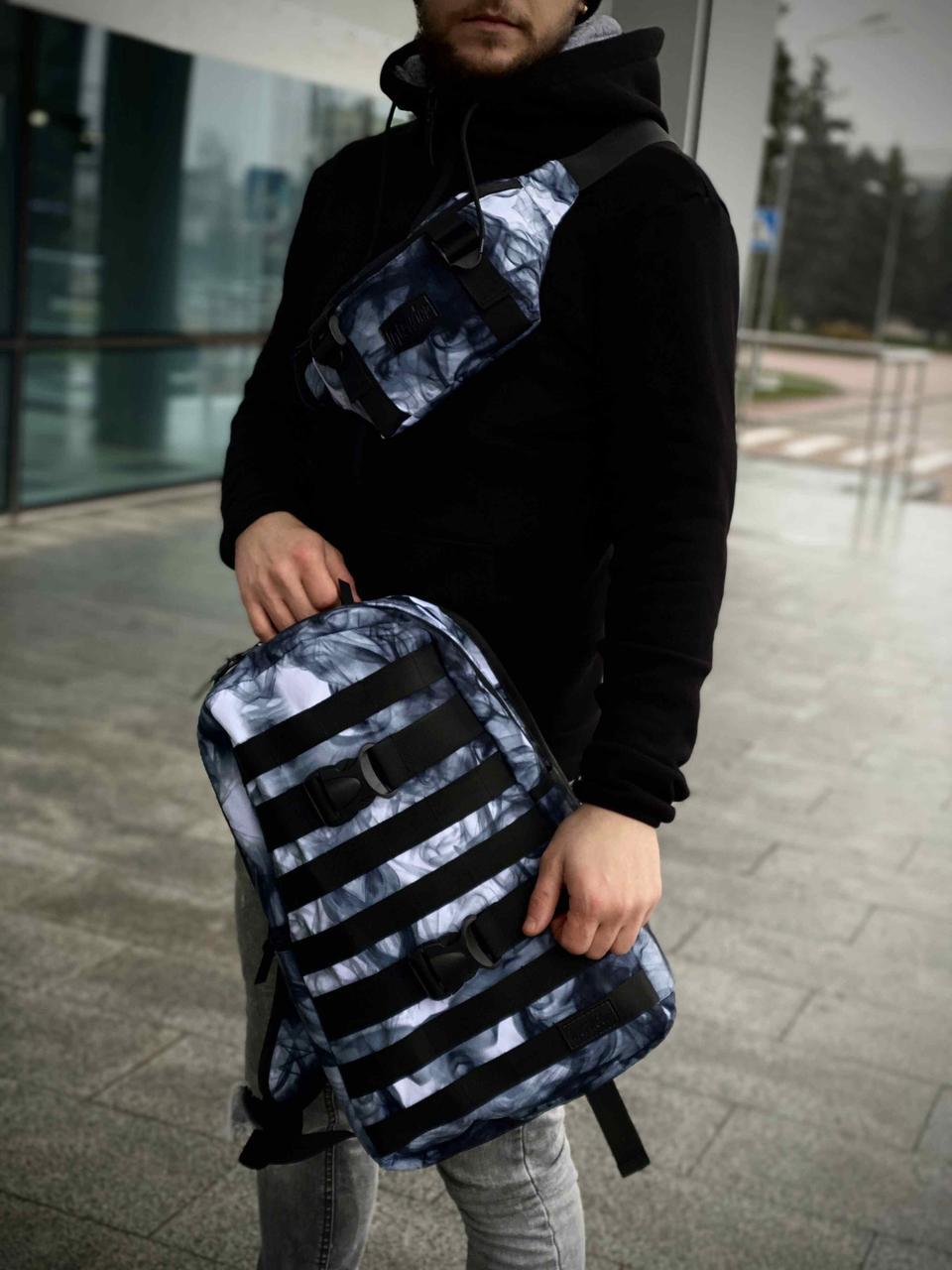 Рюкзак Fazan Городской для ноутбука Intruder + Бананка Fazan Intruder синий дым