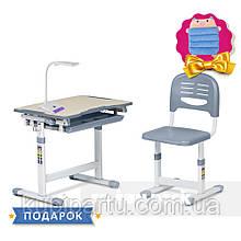 Детская парта-растишка и стульчик  Piccolino Grey FunDesk