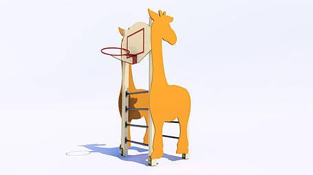 Шведская стенка с баскетбольным кольцом «Жираф», фото 2