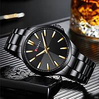 Мужские наручные часы Curren 8322 Black-Gold, фото 4