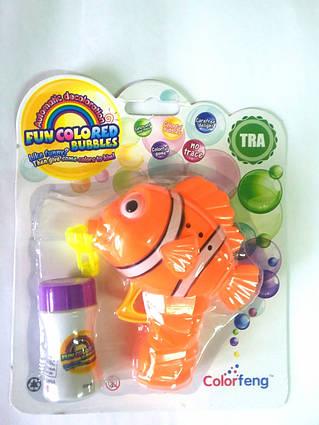 CF19302C Пістолет-мильні бульбашки кольорові риба