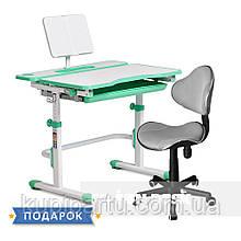 Комплект растущая парта Cubby Fressia Green+компьютерное кресло FunDesk LST3 Grey