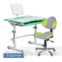 Комплект растущая парта Cubby Fressia Green+компьютерное кресло FunDesk LST3 Green-Grey