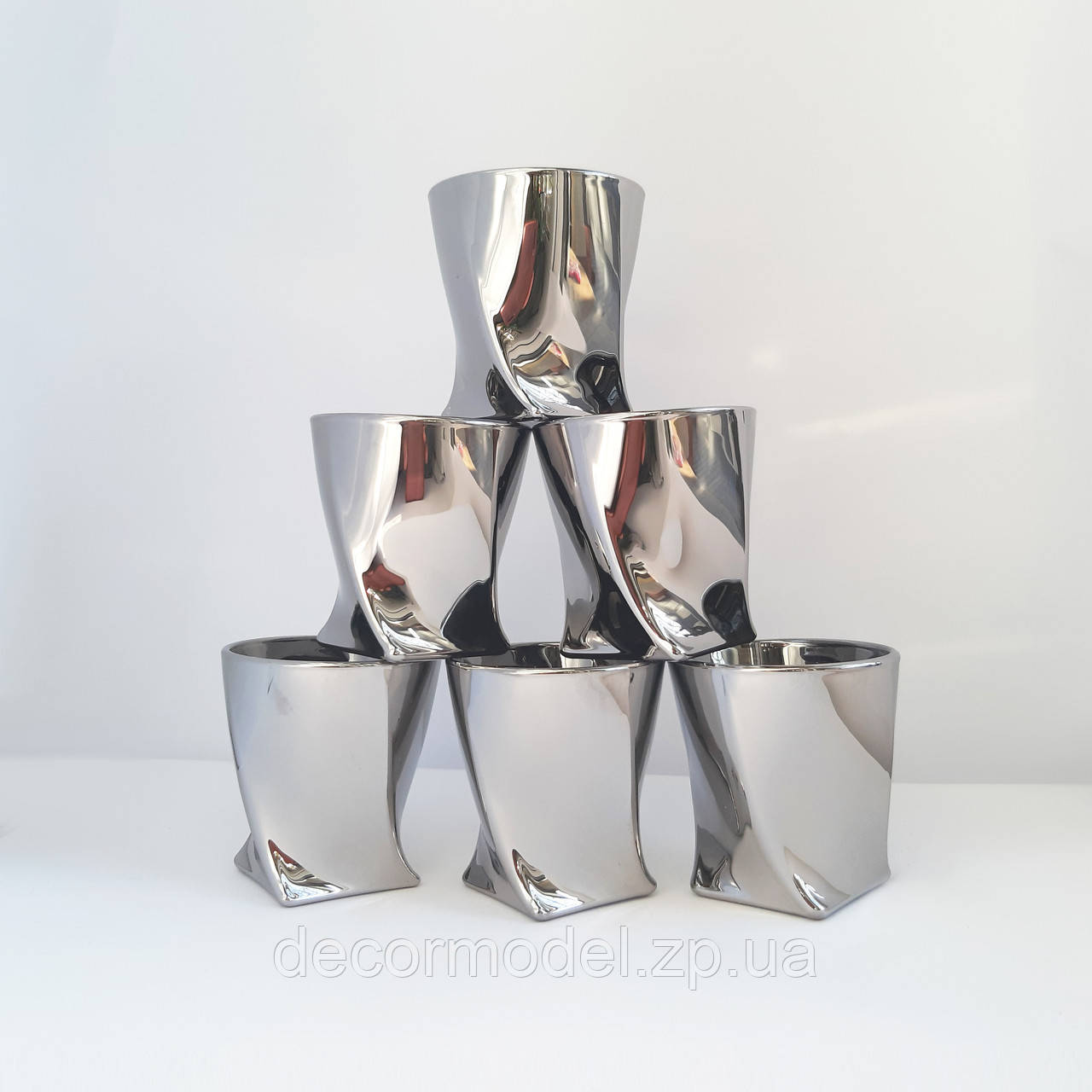 Набор стопок Bohemia Quadro Platinum 55 мл 2K936/00001/055 серебристый