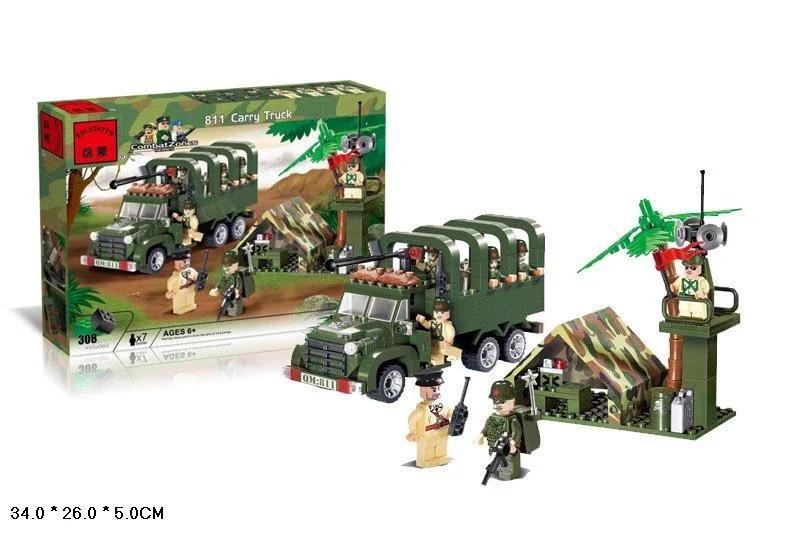 Конструктор Brick військовий лагер з вантажівкою 308 деталей в коробці 811